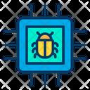 Bug Computer Chip Malware Icon