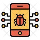Mobile Virus Virus Malware Mobile Icon