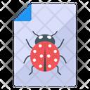 Bug File Bug Report Bug Document Icon