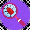 Bug Scan Database Virus Data Virus Icon