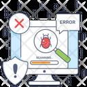 Bug Search Bug Analysis Bug Monitoring Icon