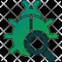 Bug Search Bug Tracking Bug Analysis Icon