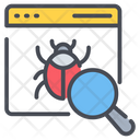 Bug Searching Bug Finding Icon