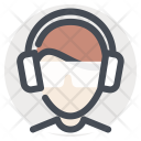 Builder Construction Earbuds Icon
