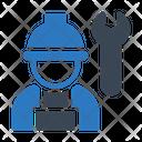 Builder Worker Engineer Icon