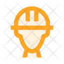 Builder Helmet Construction Icon