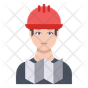 Builder Engineer Male Icon
