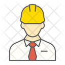 Builder Construction Worker Repairman Engineer Man Person Icon