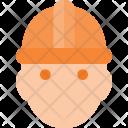 Helmet Man Worker Icon