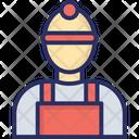 Builder Man Worker Icon