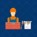 Builder Bricks Cement Icon