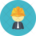 Builder Character Man Icon