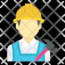 Handyman Builder Carpenter Icon