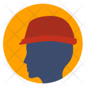 Builder Helmet Safety Icon