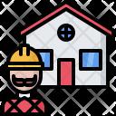 Builder Building Architecture Icon