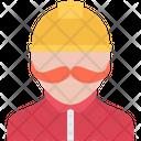 Human Mustache Helmet Icon