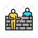 Builders Building Wall Icon