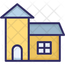 Building Country House Farmhouse Icon
