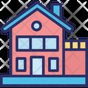 Building Bungalow Duplex House Icon