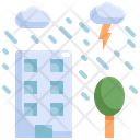 Building Rain Cloud Icon