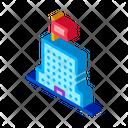 Skyscraper Flag Strategy Icon