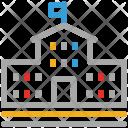 Building School Flag Icon