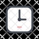 Building Clock Construction Icon