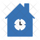 Building Clock Time Icon