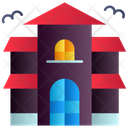 Building Halloween Scary Home Icon