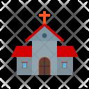 Building Church Cross Icon