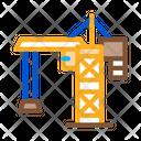 Crane Building Machine Icon
