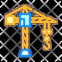 Construction Crane Color Icon