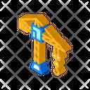 Construction Crane Isometric Icon