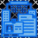 Id Card Building File Icon