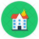 Building Fire Incident House Fire Icon