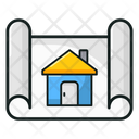 Architecture Construction House Plan Icon