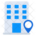 Building Location Residential Location Flats Location Icon