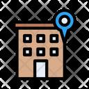 Building Location Map Icon