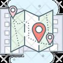 Map Address Direction Icon