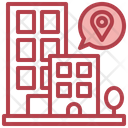 Building Location Bulding Infrastructure Icon