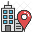 Building Location Map Icon