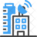 Building Signal Tower Antenna Buildings Icon