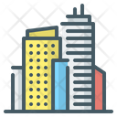 City Town Buildings Icon