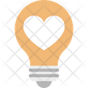 Bulb Electricity Heart Icon