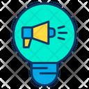 Bulb Creative Marketing Marketing Idea Icon