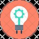 Gear Bulb Lightbulb Icon