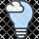 Bulb Cloud Computing Icon