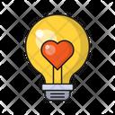 Love Bulb Heart Icon