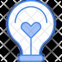 Bulb Heart Idea Icon