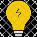 Bulb Idea Curent Brainstorming Icon